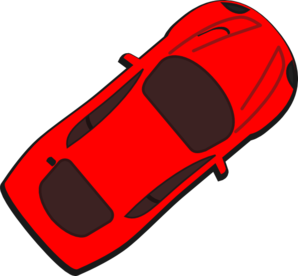Red Car - Top View - 40 Clip Art