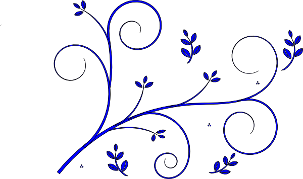 Floral Design Blue Clip Art at Clker.com vector clip art online ...