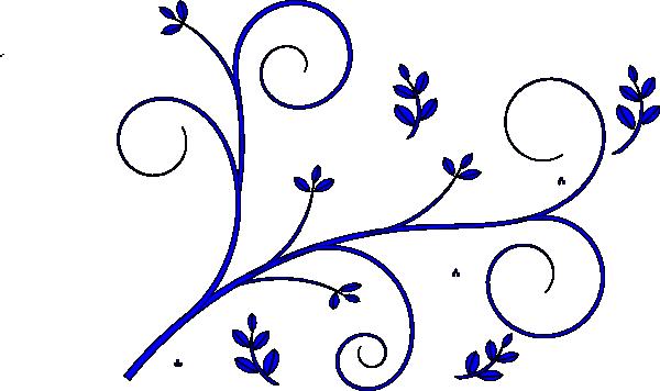 floral design blue clip art at clker com