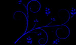 floral design blue clip art at clker com vector clip art online rh clker com