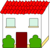 House With Black Outline Clip Art