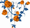 Orange Rose Border Clip Art