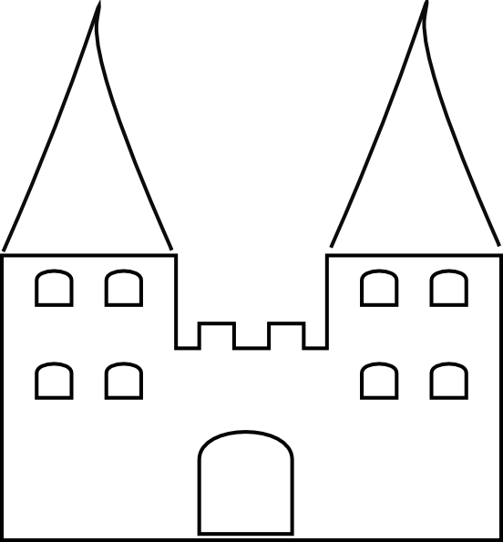 Castle 2 Clip Art at Clker.com - vector clip art online, royalty free ...