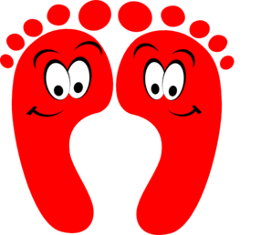 Red Happy Feet Clip Art