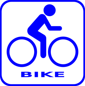 Blue Bike Icon Clip Art