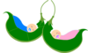Two Babies In A Pod Clip Art