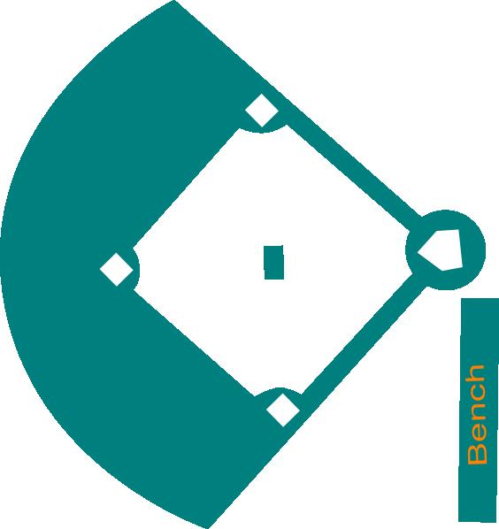 baseball field blue clip art at clker com vector clip art online rh clker com