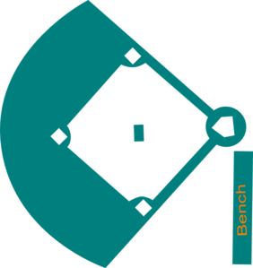 Baseball Field Blue clip art - vector clip art online, royalty ...