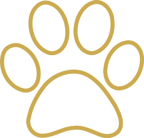 Cougar Paw Outline Dog · paw · pitline