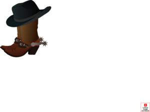 Cowboys Boots With Hat Clip Art