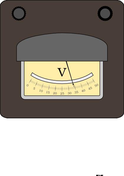 Power Meter Clip Art : Voltage meter clip art at clker vector