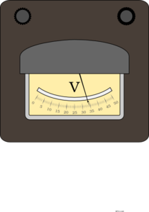Voltage Meter Clip Art