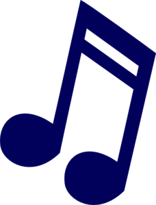 Dark Blue Music Note Clip Art