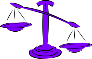 Unbalanced Scale Right Clip Art