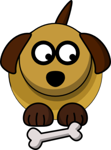 Dog Looking Right-down Clip Art