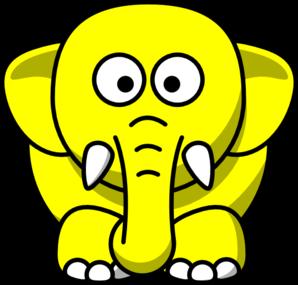 Yellow Elephant Clip Art at Clker.com - vector clip art online ...