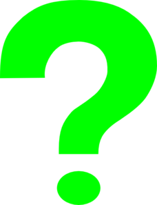 Green Question Mark Clip Art