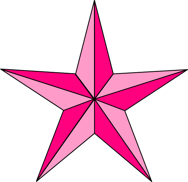 ... Png Pink nautical star clip art at clker.com - vector clip art