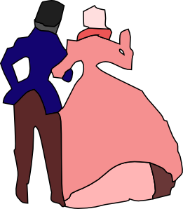 Man Woman Holding Hands Party Clip Art