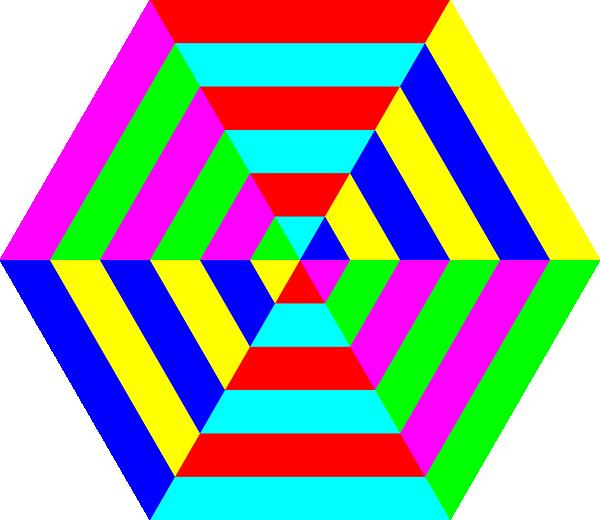 Hexagon Triangle Rainbow Clip Art At Clker Com Vector Clip Art Online Royalty Free Public Domain