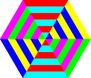 Hexagon Triangle Rainbow Clip Art