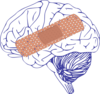 Brain Big Bandaid Clip Art