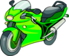 Green, Motocyle, Automobile Clip Art