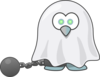 Shackled Ghost Clip Art