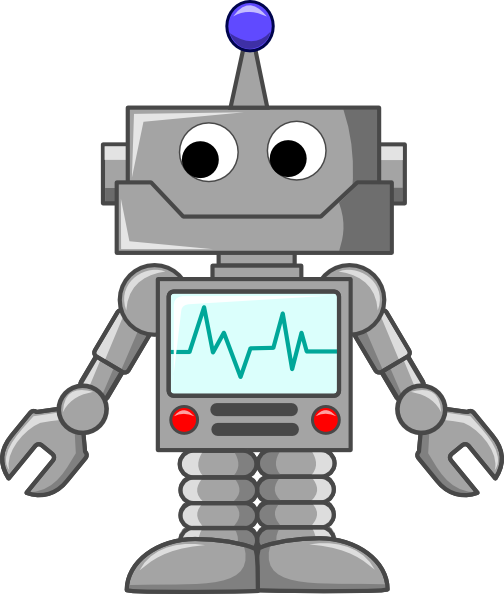 animated robot clipart - photo #1