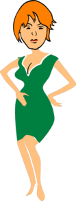 Woman With Hands On Hips Clip Art