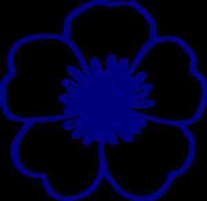 Navy Blue Buttercup Flower Clip Art