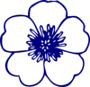 Navy Blue Buttercup Flower Clip Art