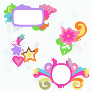 Depositphotos Groovy Picture Frames Psychedelic Doodles Vector Design Clip Art