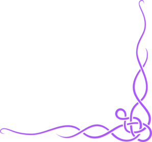 Purple Scroll Ribbon Border Purple Top Border Clip Art