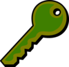 Funky Green Key Clip Art