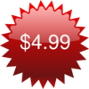 $4.99 Red Star Price Tag Clip Art