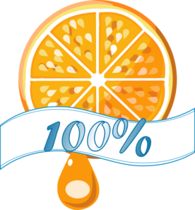 100 Percent Orange Juice Clip Art