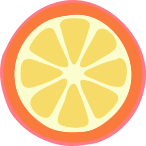 Sliced Orange Clip Art