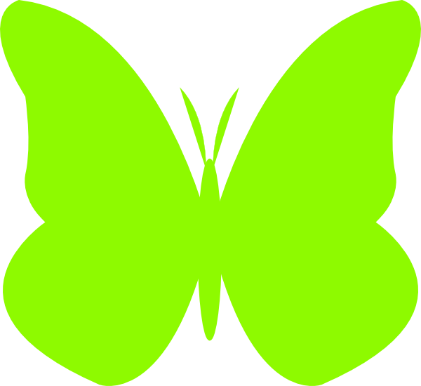 Lime Green Butterfly Clip Art at Clker.com - vector clip ...