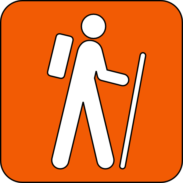 Hiking Trail Orange Clip Art at Clker.com - vector clip art online ...