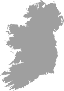 Grey Filled Map Of Ireland - No Outline Clip Art