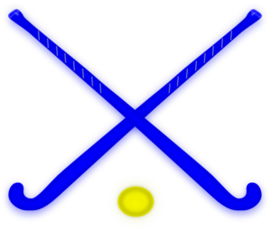 Hockey Sticks Blue Clip Art