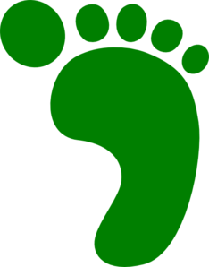 Green Foot Clip Art