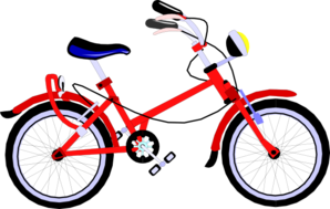 Red Bicycle Clip Art