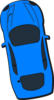 Blue Car - Top View - 100 Clip Art