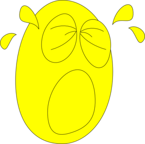 Big Crying Face2 Clip Art