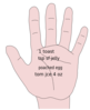 Hand Notes Clip Art