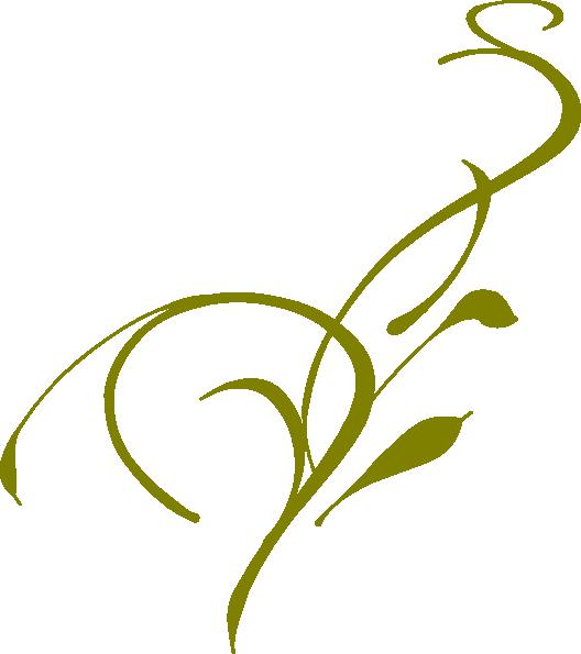 Vine Designs Art : Olive green vine clip art at clker vector