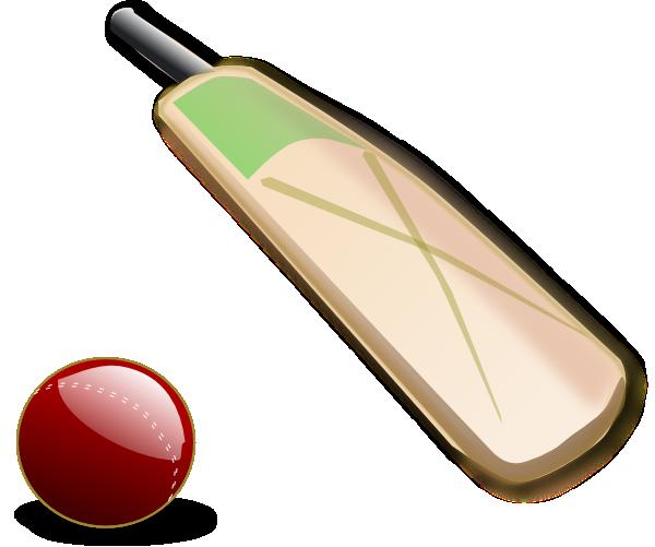 Cricket bat and ball clip art