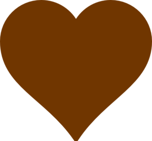 Brown Heart Clip Art